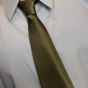 Olive Green Van Heusen Silk Tie